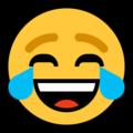 Эмодзи 😂 Лицо со слезами радости на Windows 10 Fall Creators Update