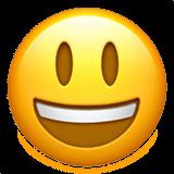 Эмодзи 😃 Улыбающееся лицо с большими глазами и открытым ртом на Apple iOS