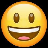 Эмодзи 😃 Улыбающееся лицо с большими глазами и открытым ртом в месседжере WhatsApp