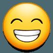 Эмодзи 😁 Сияющее лицо со смеющимися глазами на Samsung