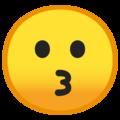 Эмодзи 😗 Целующееся лицо на Google Android