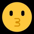 Эмодзи 😗 Целующееся лицо на Windows 10 Fall Creators Update