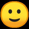 Эмодзи 🙂 Слегка улыбающееся лицо на Google Android