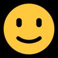 Эмодзи 🙂 Слегка улыбающееся лицо на Windows 10 Fall Creators Update