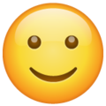 Эмодзи 🙂 Слегка улыбающееся лицо в месседжере WhatsApp