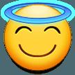 Эмодзи 😇 Улыбающееся лицо с нимбом на Samsung
