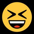 Эмодзи 😆 Улыбающееся лицо с открытым ртом и плотно закрытыми глазами на Windows 10 Fall Creators Update