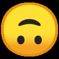 Эмодзи 🙃 Перевёрнутое лицо на Google Android