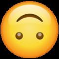 Эмодзи 🙃 Перевёрнутое лицо в месседжере WhatsApp
