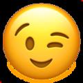 Эмодзи 😉 Подмигивающее лицо на Apple iOS