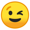 Эмодзи 😉 Подмигивающее лицо на Google Android