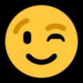 Эмодзи 😉 Подмигивающее лицо на Windows 10 Fall Creators Update