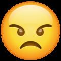 Эмодзи 😠 Злой в месседжере WhatsApp