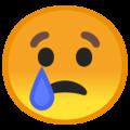Эмодзи 😢 Плачущий на Google Android