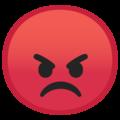 Эмодзи 😡 Красное злое лицо на Google Android