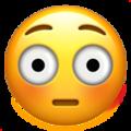Эмодзи 😳 Смущённый на Apple iOS