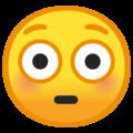 Эмодзи 😳 Смущённый на Google Android