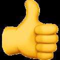 Эмодзи 👍 Большой палец вверх на Apple iOS