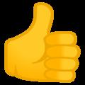 Эмодзи 👍 Большой палец вверх на Google Android