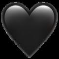 Эмодзи 🖤 Черное сердце на Apple iOS