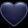 Эмодзи 🖤 Черное сердце в месседжере WhatsApp