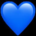 Эмодзи 💙 Синее (голубое) сердце на Apple iOS