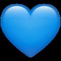 Эмодзи 💙 Синее (голубое) сердце в месседжере WhatsApp