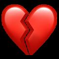 Эмодзи 💔 Разбитое сердце на Apple iOS