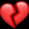 Эмодзи 💔 Разбитое сердце в месседжере WhatsApp