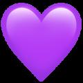 Эмодзи 💜 Фиолетовое сердце на Apple iOS
