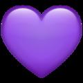 Эмодзи 💜 Фиолетовое сердце в месседжере WhatsApp