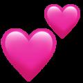 Эмодзи 💕 Два сердечка на Apple iOS