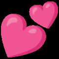 Эмодзи 💕 Два сердечка на Google Android