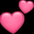 Эмодзи 💕 Два сердечка в месседжере WhatsApp