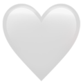 Эмодзи 🤍 Белое сердце на Apple iOS