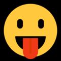 Эмодзи 😛 Лицо с высунутым языком на Windows 10 Fall Creators Update