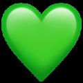 Эмодзи 💚 Зеленое сердце на Apple iOS