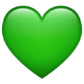 Эмодзи 💚 Зеленое сердце в месседжере WhatsApp