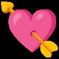 Эмодзи 💘 Сердце со стрелой на Google Android