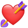 Эмодзи 💘 Сердце со стрелой в месседжере WhatsApp