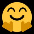 Эмодзи 🤗 Обнимашки или Обнимаю на Windows 10 Fall Creators Update