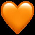 Эмодзи 🧡 Оранжевое сердце на Apple iOS