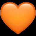 Эмодзи 🧡 Оранжевое сердце в месседжере WhatsApp