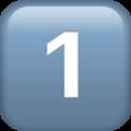Эмодзи 1️⃣ Кнопка 1 «один» (единица) на Apple iOS