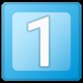 Эмодзи 1️⃣ Кнопка 1 «один» (единица) на Google Android