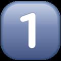 Эмодзи 1️⃣ Кнопка 1 «один» (единица) в месседжере WhatsApp