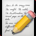 Эмодзи 📝 Заметка (Памятка) на Apple iOS