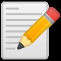 Эмодзи 📝 Заметка (Памятка) на Google Android